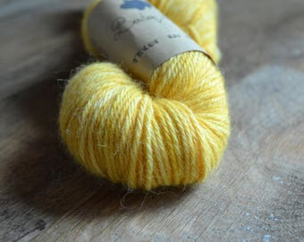 Buttercup - Skein of wool Alpaca hand dyed
