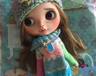 "On layaway 4th payment 18/9 Sad""Cinnamon"" nobody loves me...Ooak original Ebl takara Blythe custom doll"