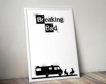Breaking Bad Poster, Breaking Bad, Breaking Bad Fan Art, Breaking Bad Print, Poster, Art, Print,
