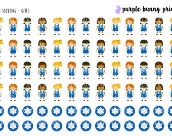 Blue Scouting (Girls) // Planner Stickers!
