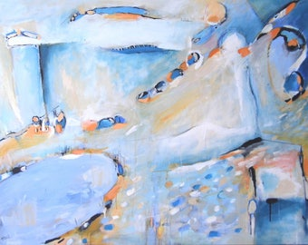 """""""Abstract large painting ' to the pond"""""""