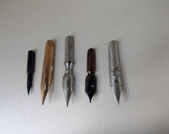 Job lot of 5 pen nib different brands