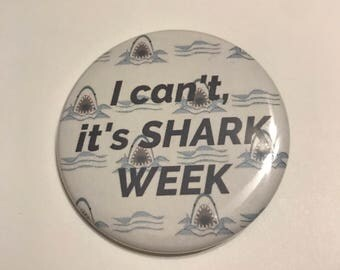 Shark Week Pinback Button