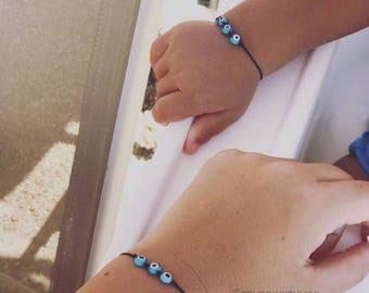 evil eye bead bracelt, evil eye, turkish, friendship bracelet, summer jewelery