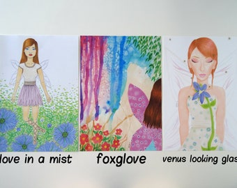 A4 British Flower Fairy Prints Set 2 (Individual Prints or Discounted Bundle)
