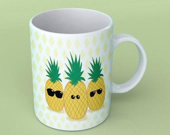 Mug - I see life in pineapple