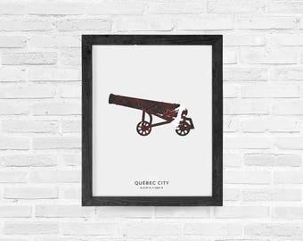Quebec City Cannon Print