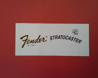 Custom 73' Fender Stratocaster Waterslide Restoration Decals