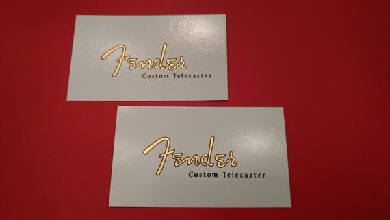 59-64 Custom Fender Telecaster Restoration Decal in Metallic Gold. Two with each order.