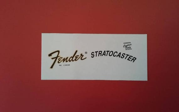 Custom 73' Fender Stratocaster Waterslide Restoration Decals - Two custom waterslide decals