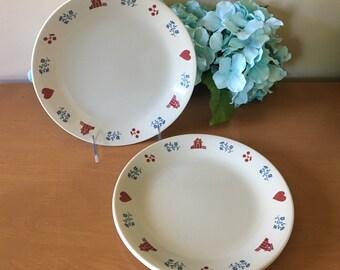 "Corelle ""Hometown"" 8 1/2"" Salad Plate - Set of 4"