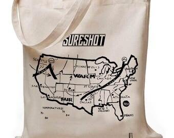 Weathermap - jute bag