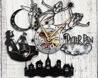 Peter Pan Vinyl Wall Clock Tinkerbell