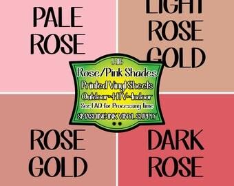 Rose Gold Vinyl/Printed Heat Transfer Vinyl/Patterned Vinyl/Printed 651 Vinyl/Printed 631 Vinyl/Printed Outdoor Vinyl/Printed HTV