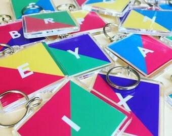 Letter Key Ring - Personalised Key Ring - Initial Key Ring