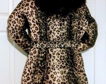 SALE 50% Size M Down Coat/Designer Down Coat/Womens  Down Jacket/Lightweight Winter Jacket/Duck Down Coat/Vintage Coat/ Item Nr. 053