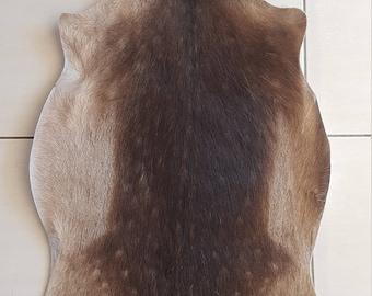 Real deer skin rug