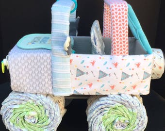 Tribal baby shower, tribal diaper cake, tribal jeep, arrow baby shower, arrow diaper cake, jeep diaper cake, diaper cake,