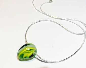 Glass bead necklace - small size around 1cm long