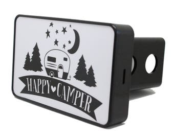 Happy Camper Hitch Cover
