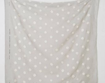 Candy Pocho in C ~ nani Iro Linen Gauze Fabric ~ Grey with Silver Polka Dots Fabric ~ Weave and Woven