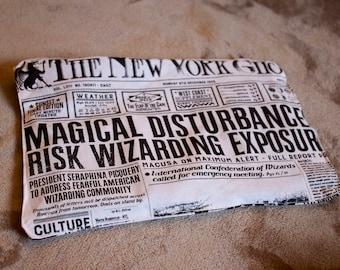 Wizard Newspaper pencil bag
