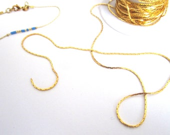 1 m gold serpentine chain 0.5 mm