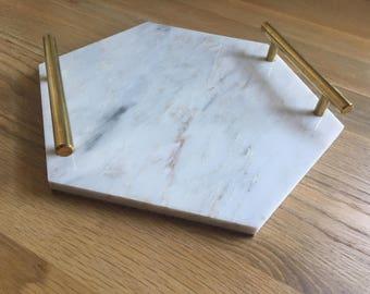 Handmade Grey Marble Tray / Cheeseboard
