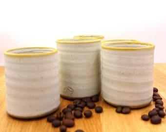 Espresso cups - set of 5 Espresso Cups - wheel thrown Espresso Cup - white Espresso Cup