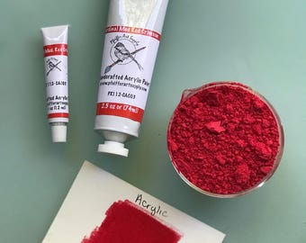 Acrylic Paint Matte Cardinal Medium Crimson Red