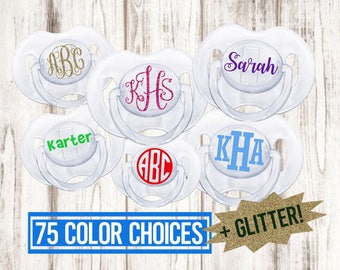 Custom pacifier, pacifier, avent pacifier, monogrammed pacifier, baby boy, baby girl, baby bottle, paci, baby shower gift, newborn gift, bab