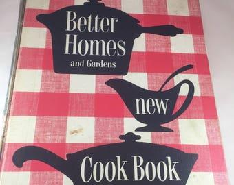 Better Homes and Gardens New Cook Book - Vintage Cookbook - 1950s Cookbook - Vintage Kitchen - Recipe Collection - Binder Cookbook