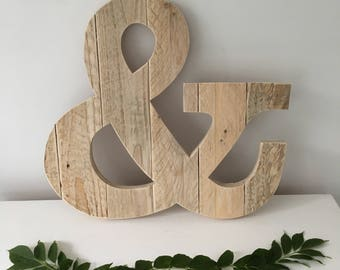 Ampersand Wall Decor wooden ampersand | etsy