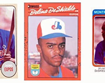 3 - Delino DeShields Odd-Ball Trading Card Lot