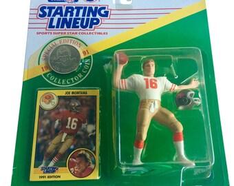 NFL Starting Lineup SLU Joe Montana Action Figure San Francisco 49'ers 1991