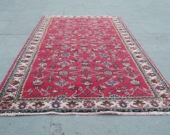 vintage turkish rug  196x102 cm, 77.1x40.1 inches,wool carpet,turkish carpet,carpets,living room rug,türkische teppich,tapis,alfombra,rugs