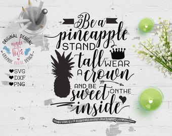 nursery svg, Pineapple svg, be a pineapple svg, stand tall, wear a crown, summer svg, baby svg, stencil designs, decal designs, die cuts