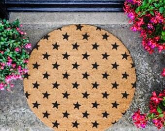 Star pattern Circle Doormat