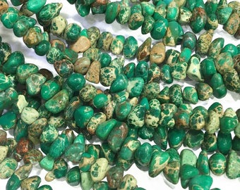 8-12mm Aqua Terra Jasper Chip Beads, Chip Gemstone, Wholesale Beads