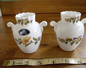 Two small Aynsley vase