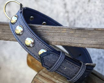 Bijou-gritty round studded dog collar