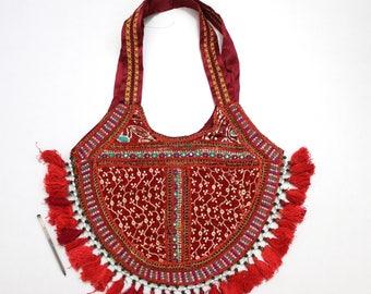 Handmade Ethnic Designer Tribal Banjara Patchwork Embroidered Hippy Fashionable Stylish Trendy Hippie Gypsy Boho Bohemian Shopper Bag F157