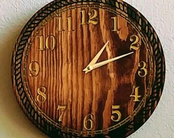 "10"" Pine wall Clock"