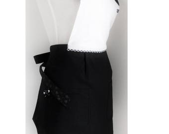 Apron woman black and white
