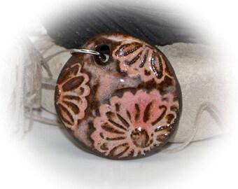 Feminine Chic - Handmade Stoneware Pendant #480