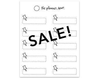 SALE! Label Planner Stickers - Push Pin