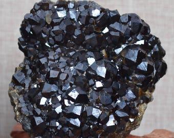 Rare Natural Raw Garnet Quartz Cluster/special gift/Garnet Stone Collection/mineral crystalline/Teaching Mineral specimen-87*83*50mm 549g