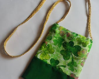 Shamrock cross-body purse