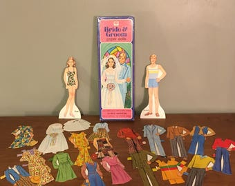 Bride and Groom Paper Doll Set by Whitman