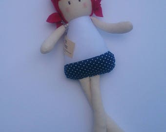 Audrey - Handmade Doll - Cloth Doll - Fabric Doll - Rag Doll